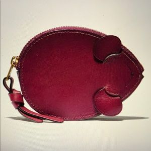 Mouse coin purse more of berry colour